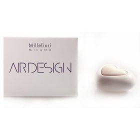 Millefiori Milano, Air Design, Dizajnový Aróma Difuzér, Heart, Biele Srdce
