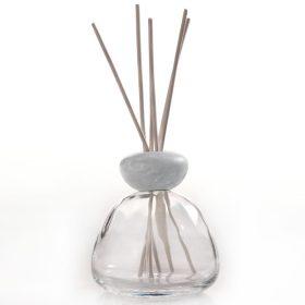 Millefiori Milano, Air Design, Dizajnový Aróma Difuzér, Marble Glass Clear, Grey Marble Cap