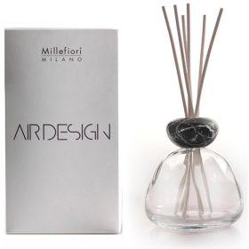 Millefiori Milano, Air Design, Dizajnový Aróma Difuzér, Marble Glass Frosted, Black Marble Cap