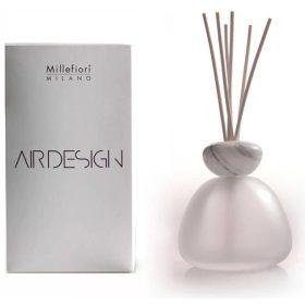 Millefiori Milano, Air Design, Dizajnový Aróma Difuzér, Marble Glass Frosted, White Marble Cap
