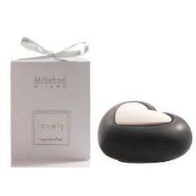 Millefiori Milano, Lovely, Dizajnový Aróma Difuzér, Heart, Čierne Srdce