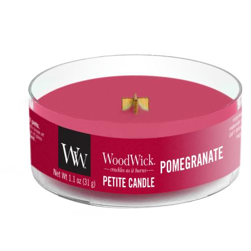 Woodwick, Vonná Sviečka Petite, Pomegranate 31g, Granátové Jablko